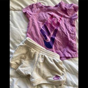 NIKE T-Shirt & Running Shorts Set- 6-9MO